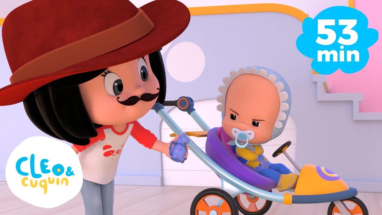 El Cocherito Lere y más canciones infantiles con Cleo y Cuquin | Familia Telerin