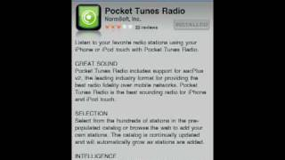 Pocket Tunes Radio For iPhone