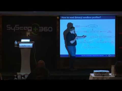 SyScan360'16 Singapore:  OSX El Capitan   Sinking The Ship