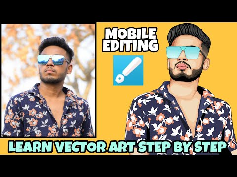 Vector Art Step By Step In INFINITE DESIGN || CARTOON YOURSELF || MOBILE EDITING
