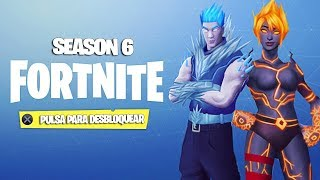 'SEASON 6' FORTNITE FILTRATE THEME OF THE SKINS OF THE BATTLE PASS 6 Fortnite: Bataille Royale