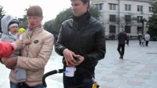 Опрос жителей Ялты о присоединении Крыма к России