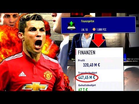 FIFA 18 : 450 MIL € 💰 ABSOLUT IRRES TRANSFERBUDGET !!! 😅 Manchester United One Season Wonder #1