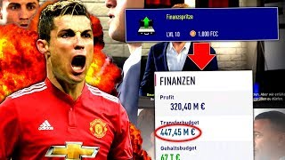 FIFA 18 : 450 MIL € 💰 ABSOLUT IRRES TRANSFERBUDGET !!! 😅 Manchester United One Season Wonder #1