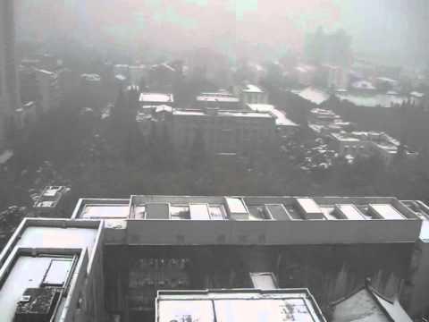 Nanjing University in snow
