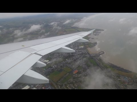 Aer Lingus Airbus A320 ✈ Windy Arrival At Dublin Airport