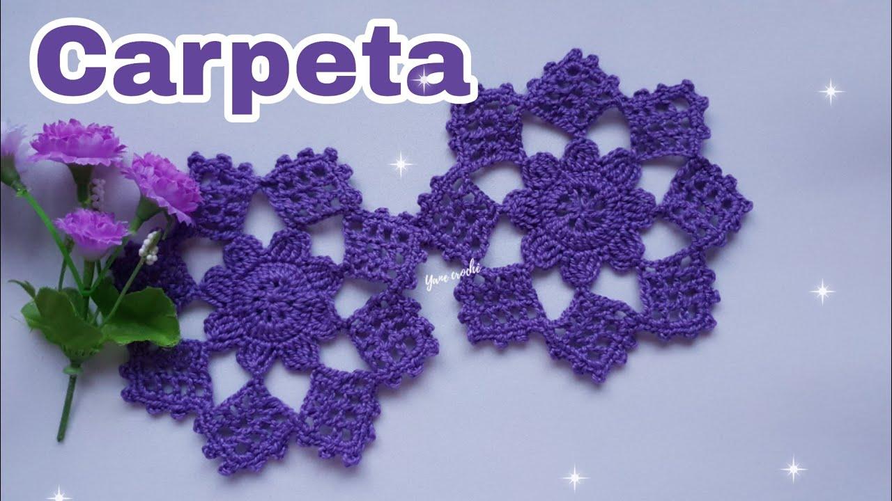 Carpeta a Crochet (circulo mágico) Posa vaso, Sousplat por Yanexi.