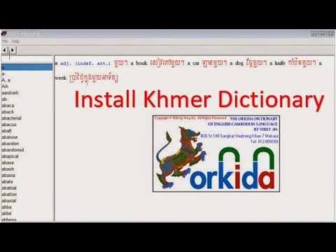 Download How To Install Khmer Dictionary Full Version MP3, MKV, MP4