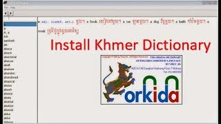 How To Install Khmer Dictionary Full Version