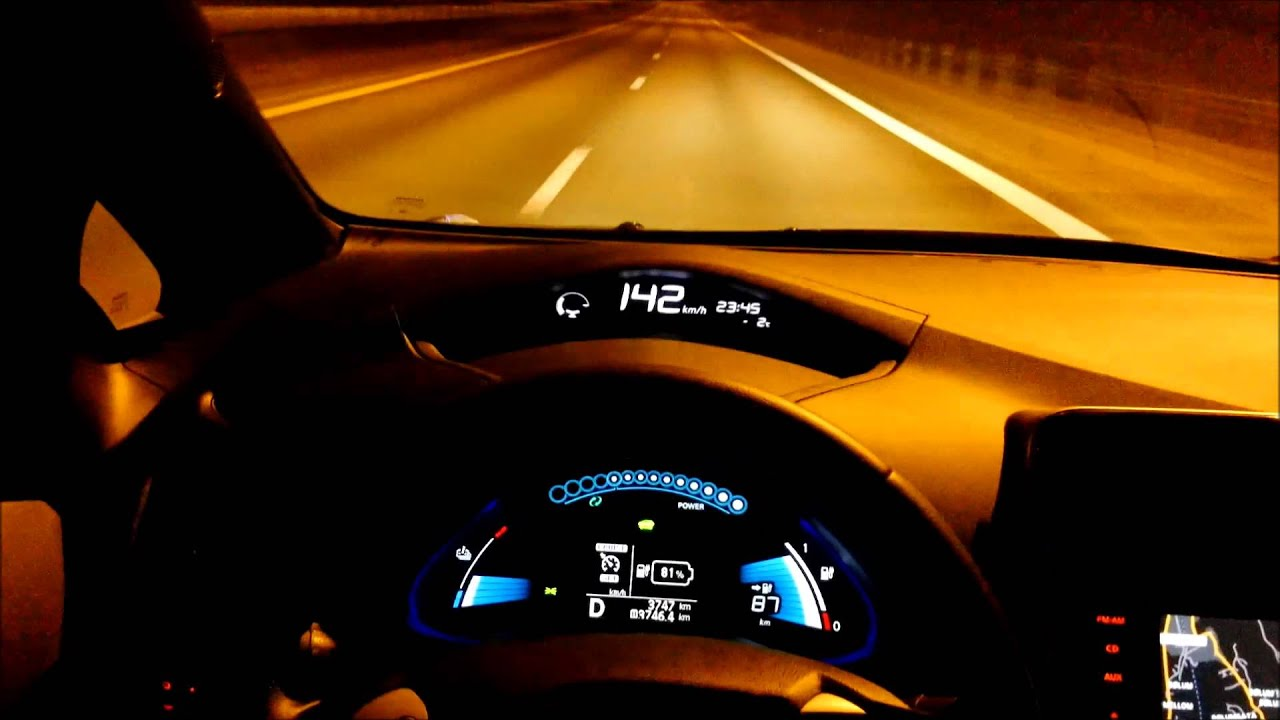 Top Speed Nissan Leaf - YouTube