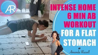 INTENSE Home 6 Min Ab Workout for a FLAT Stomach