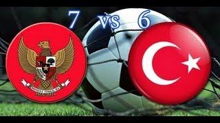 All Gol Indonesia Vs Turki 7-6 Adu Pinalti + Highlight ISG - 27 September 2013