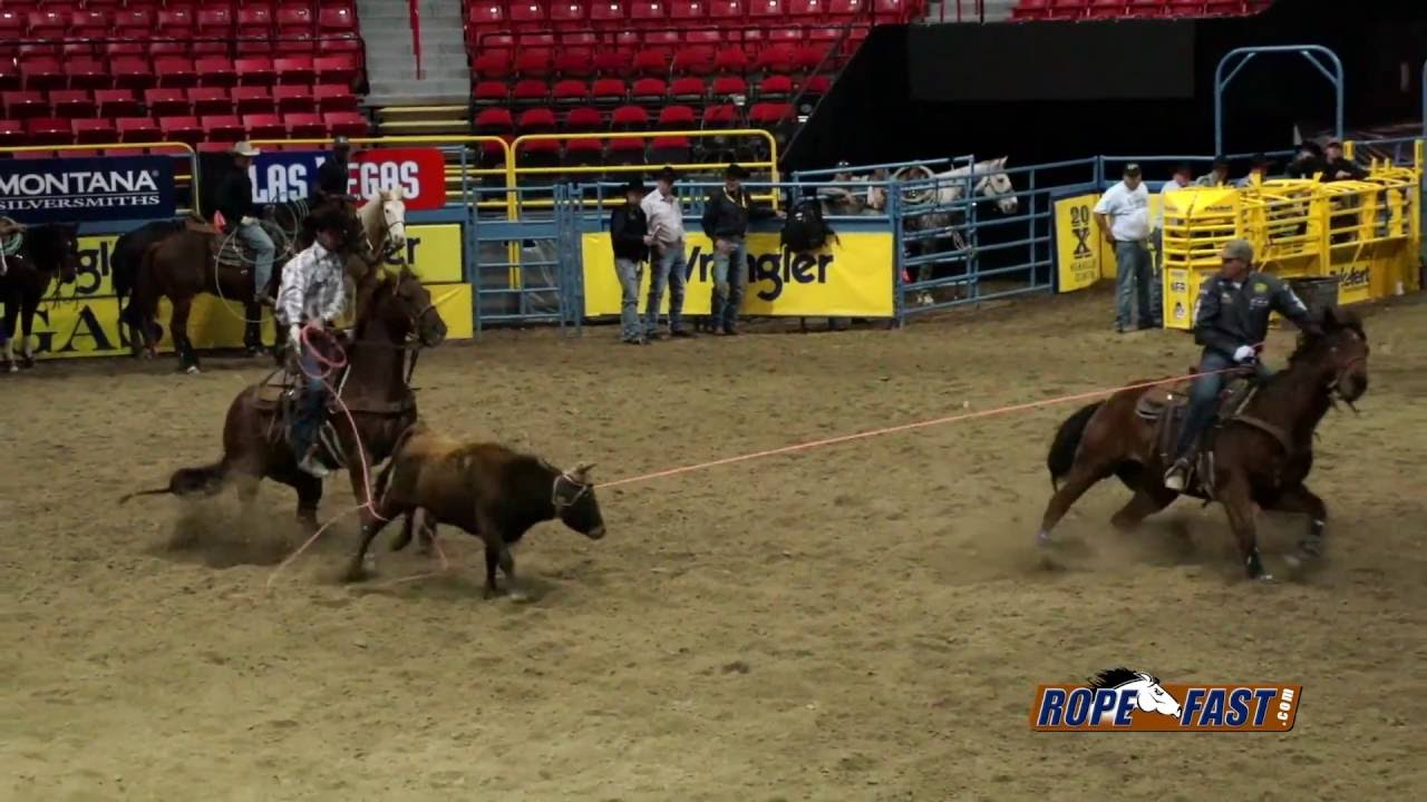 2012 Nfr Team Roping Practices Youtube