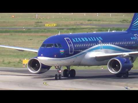 Azerbaijan Airlines A319 [4K-AZ04] landing at Airport Berlin Tegel (TXL-EDDT)