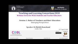 [COOL Webinars | TALC 2020 | TE] Session 1: Perspectives on Pre-service Teacher Education