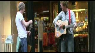 mic christopher & glen hansard sing