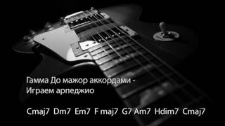 С Major гамма до мажор минус для гитары