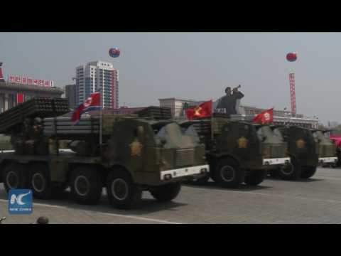 Thumbnail: North Korea displays submarine-launched ballistic missile at military parade