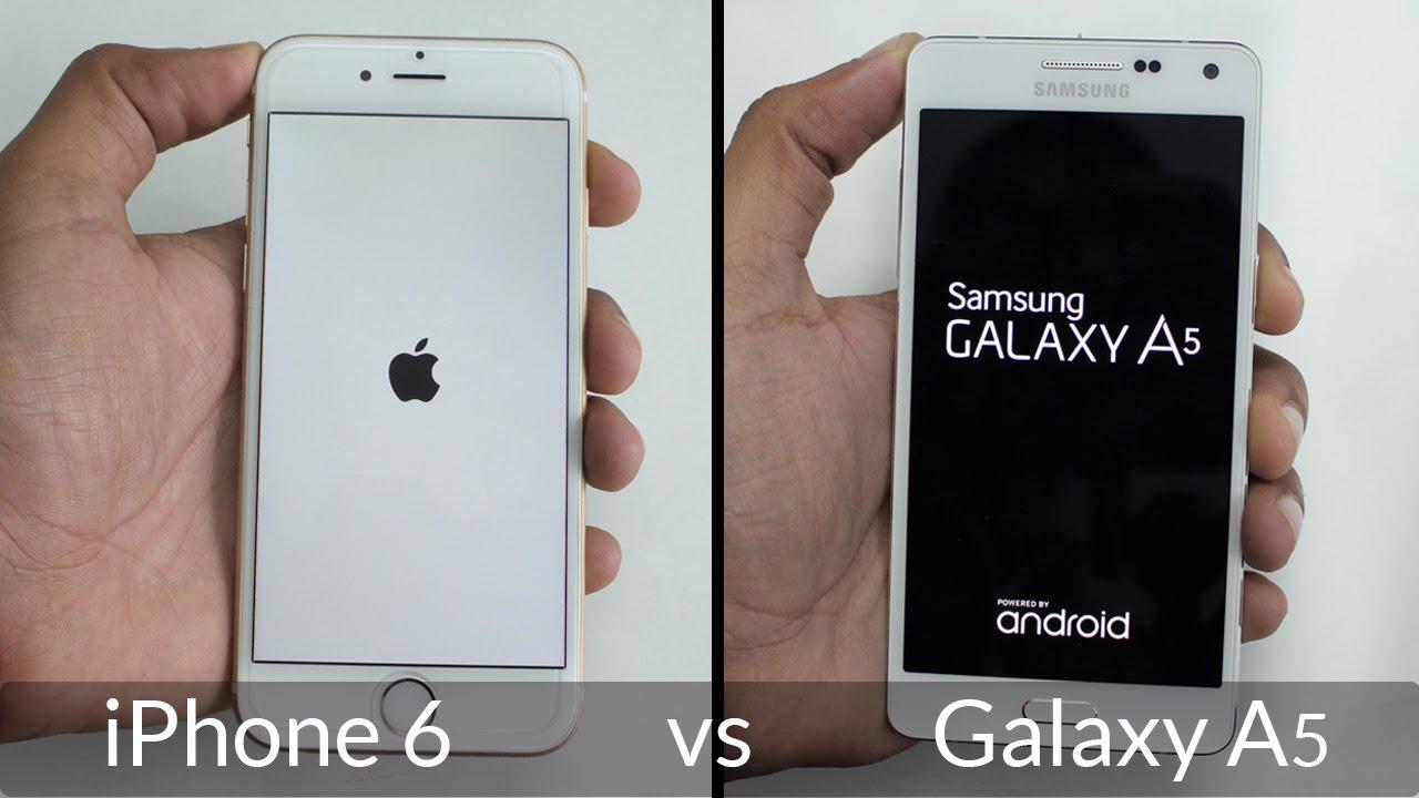 samsung galaxy a5 16 vs iphone 6