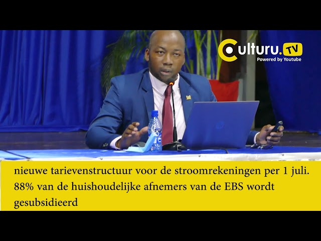 Nieuwe tarieven gepresenteerd van de Energie Bedrijven Suriname EBS en de Surinaamse Waterleiding Ma