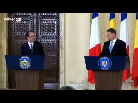 Declarație de presă comună a Președintelui Republicii Franceze, François Holland...