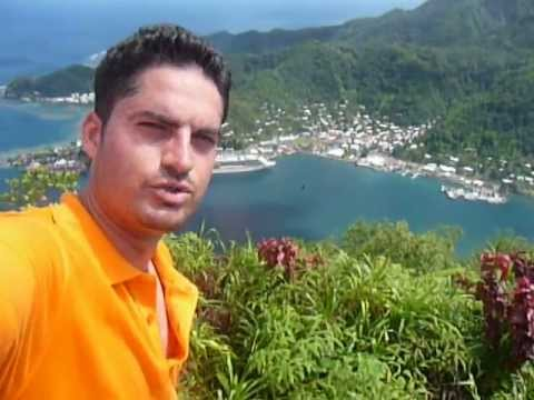 At the top of the Mount Alava, Tutuila island- American Samoa