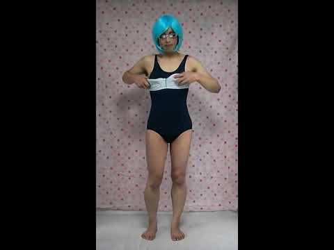 Crossdresser  Ayuka  女装 生着替え 女子校生、スクール水着 コスプレ