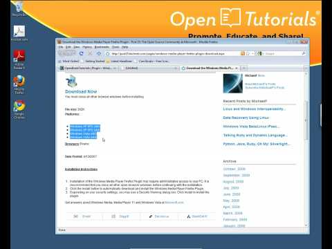 Firefox plugin - Install Windows Media Player plugin