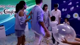 Gia đình Lý Hải Minh Hà và gia đình Hoàng Bách quẩy tưng bừng tại siêu thị cuối tuần