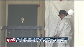Apartment renters possibly exposed to asbestos