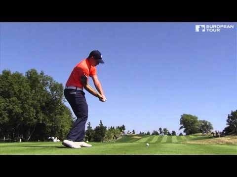 Matthew Fitzpatrick - slow motion golf swing - tee shot