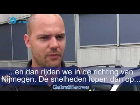 Helikopterbeelden: Wilde achtervolging van uit Arnhem naar Nijmegen