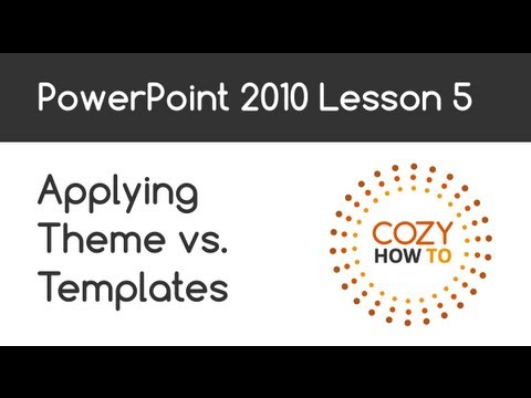 Powerpoint applying theme vs template lesson 05 youtube for Powerpoint theme vs template