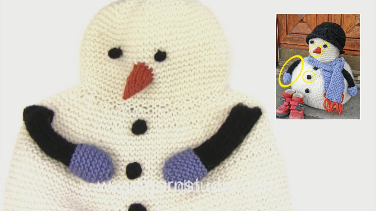 How to knit the eye, button, nose and arm for the snowman in DROPS ...