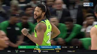Highlights: Rose puts on show in Timberwolves' loss to Celtics