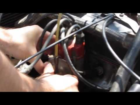 How to adjust ignition timing (old car)