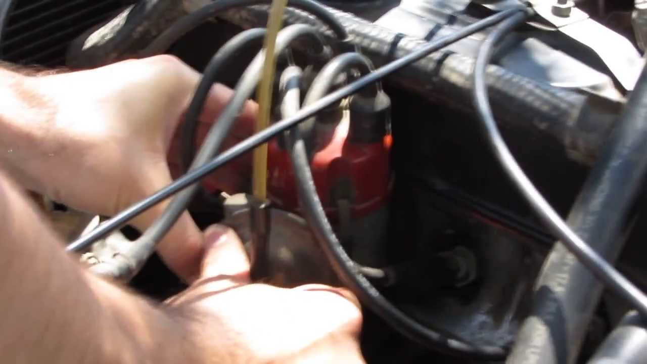 How to adjust ignition timing (old car)  YouTube