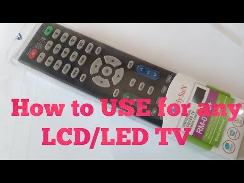 How To Setup Universal Remote RM-014S+ For ANY Led TV   Crt Tv   All TV Codes   LCd Tv  TOP10