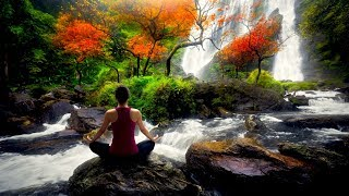 Relaxing Sleep Music with Calming Waterfall Forest Sounds
