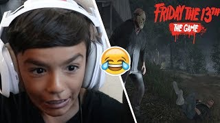 Little Brother Plays Friday The 13th For The First Time! (Hilarious)