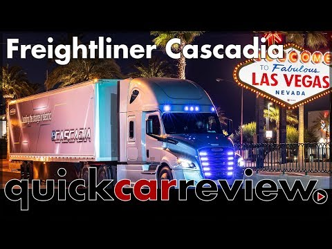 2019 CES: Daimler presents new Freightliner Cascadia | Truck | Review | World Premiere | English