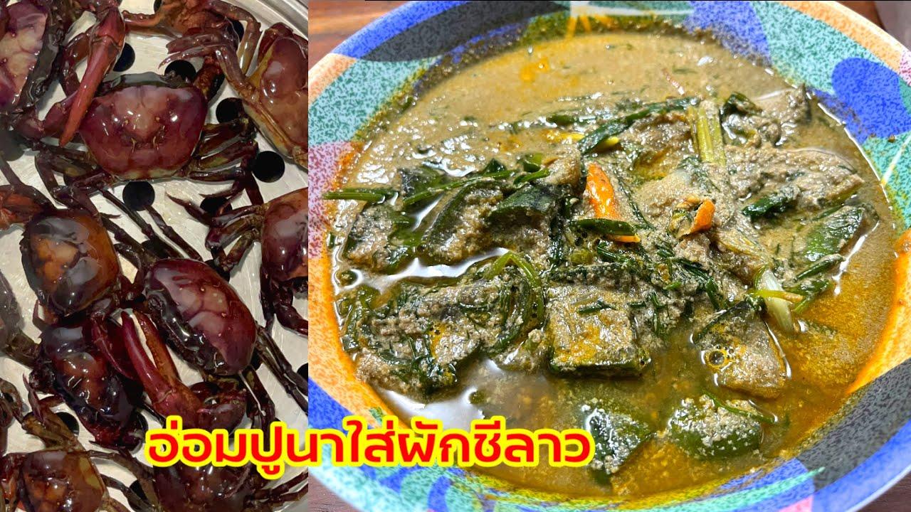 อ่อมปูนาใส่ผักชีลาว พร้อมเคล็ดลับการน็อคปูให้สลบไม่หนีบมือแน่นอน อาหารอีสานแซ่บนัวร์ | ครัวแม่หงษ์