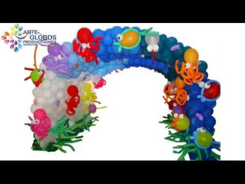 Decoracion con globos arcos y tuneles elaborados en globos - Decoracion con globos para cumpleanos ...