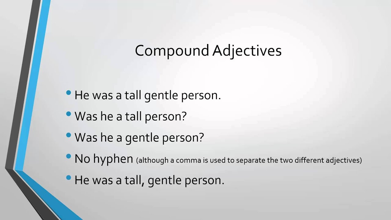 Forming Compound Adjectives: Rules and Examples