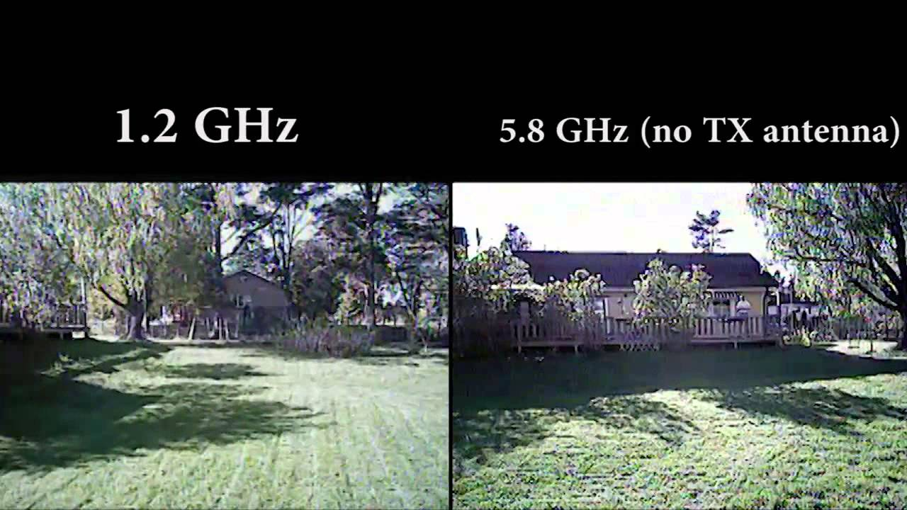 FPV Test 12GHz VS 58GHz Hubsan X4 107C