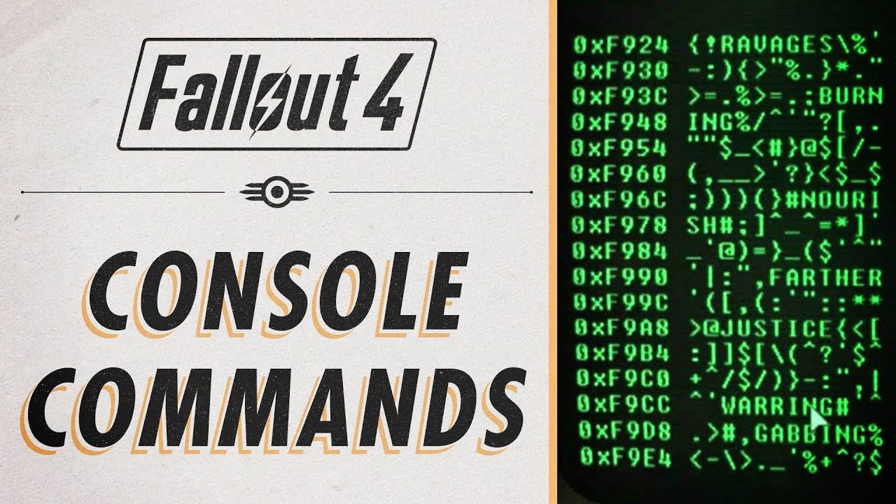 Fallout 4 console commands cheats youtube - What consoles will fallout 4 be on ...