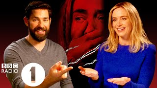 'Don't fart!' John Krasinski and Emily Blunt on what A Quiet Place *could* have been.