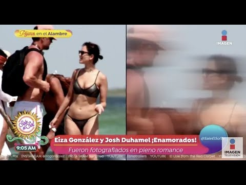 ¡Eiza González y Josh Duhamel captados muy románticos!  Sale el Sol
