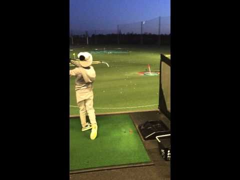 Will Clark (8) on target at Top Golf Chigwell