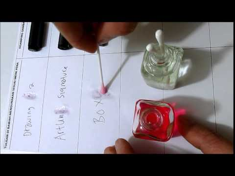 how remove erase permanent signature ink from papers by~magic ink